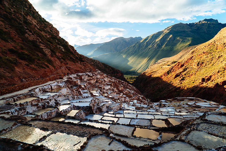 The salt evaporation ponds at Maras were breathtaking. Definitely put this on your itinerary.