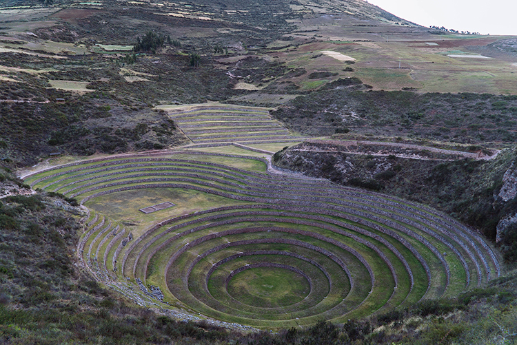 Moray is believed to be a kind of agricultural research lab for the Incan people, but Shane thinks it's a spaceship dock