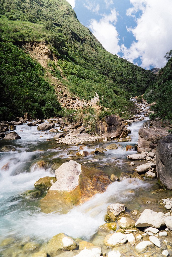 Rivers and waterfalls were everywhere on the Salkantay Trail