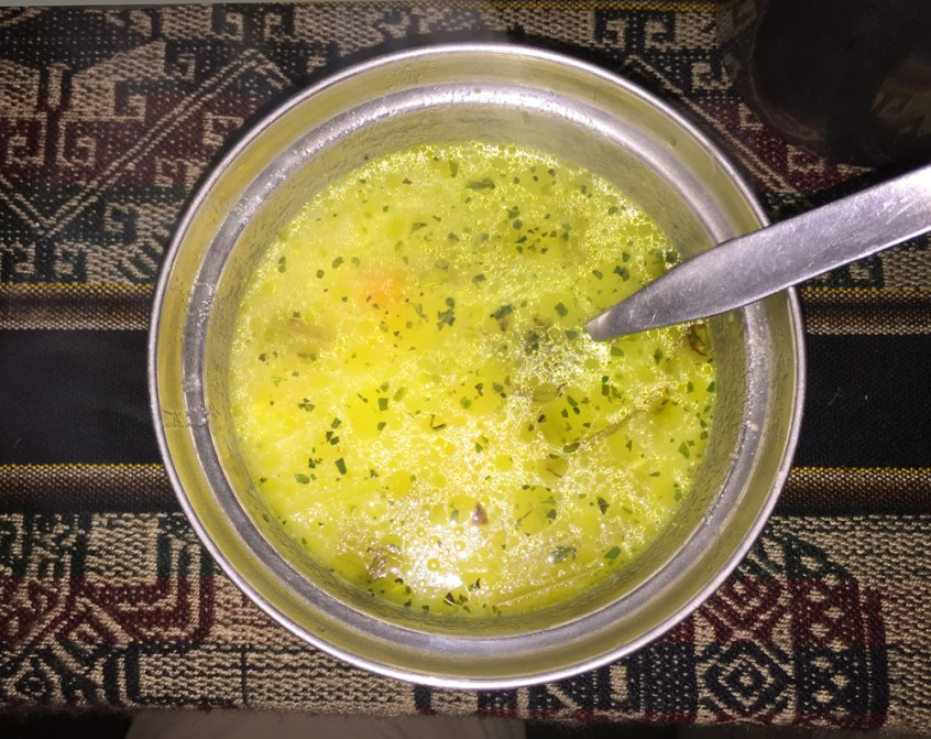 Lunch always began with soup!