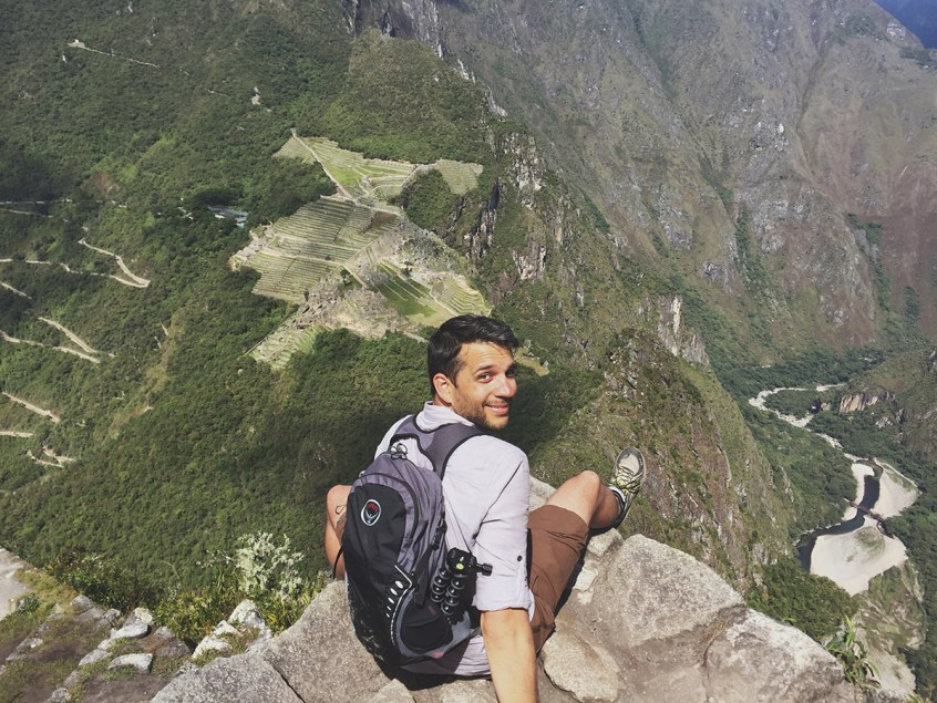 At the top of Huaynapicchu mountain.