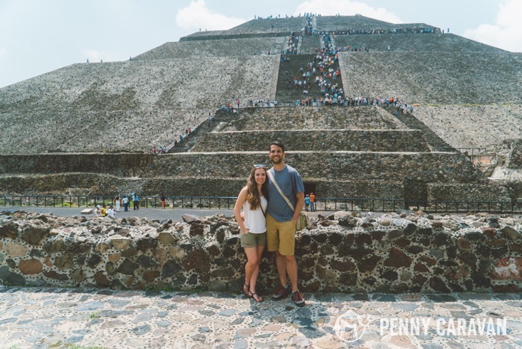 Shane and I at the Pyramid of the Sun.