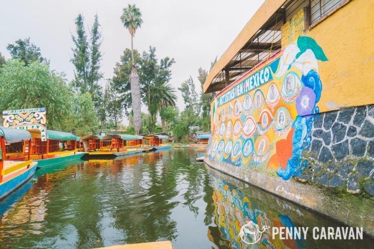 The river at Xochimilco.