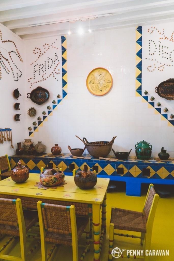 Frida's kitchen at Casa Azul