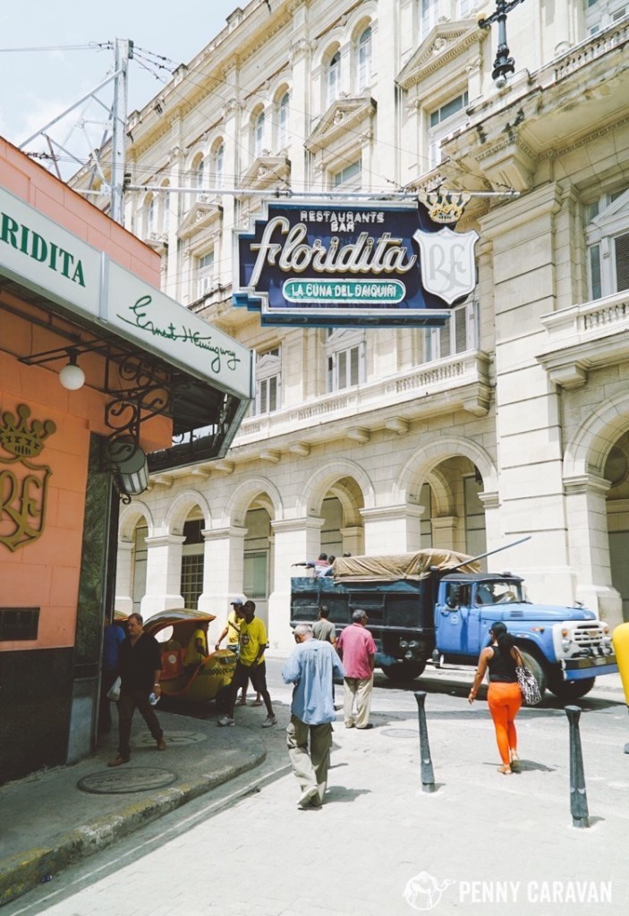 Floridita in the daytime.