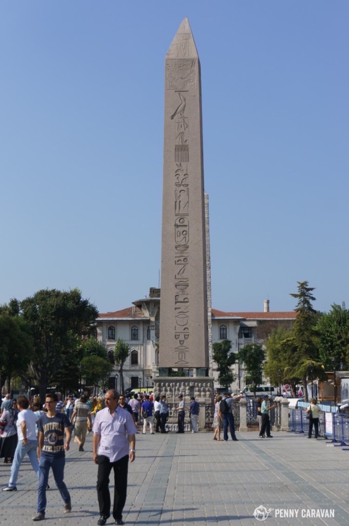 The Hippodrome of Constantinople was a sporting arena that accommodated tens of thousands. Today it is a square and all that remains are the obelisks which once marked the turning points of the racing track.