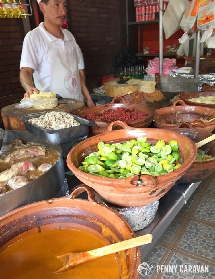 Taco fixins at Chupa Cabras.