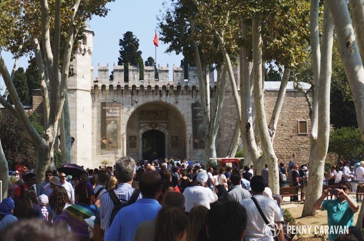 Topkapi Palace queue.