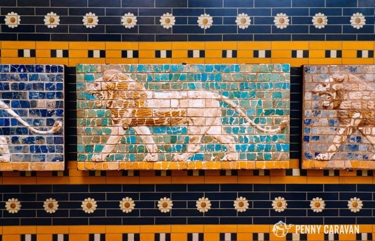 Pieces of the great palace at Persepolis, Iran.