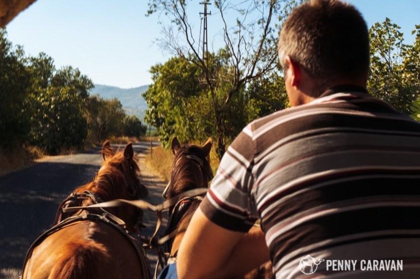 Riding in to Ephesus.