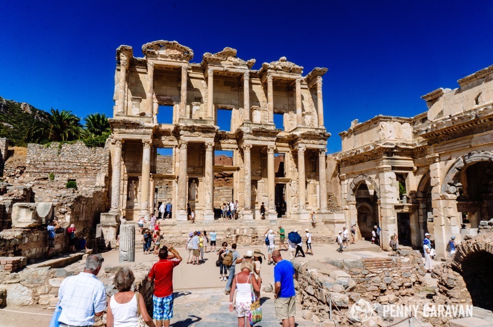 The Library of Celsus is one of the main sites, as the facade has been fantastically reconstructed from its original parts. It was built in 125 AD and once held 12,000 scrolls.