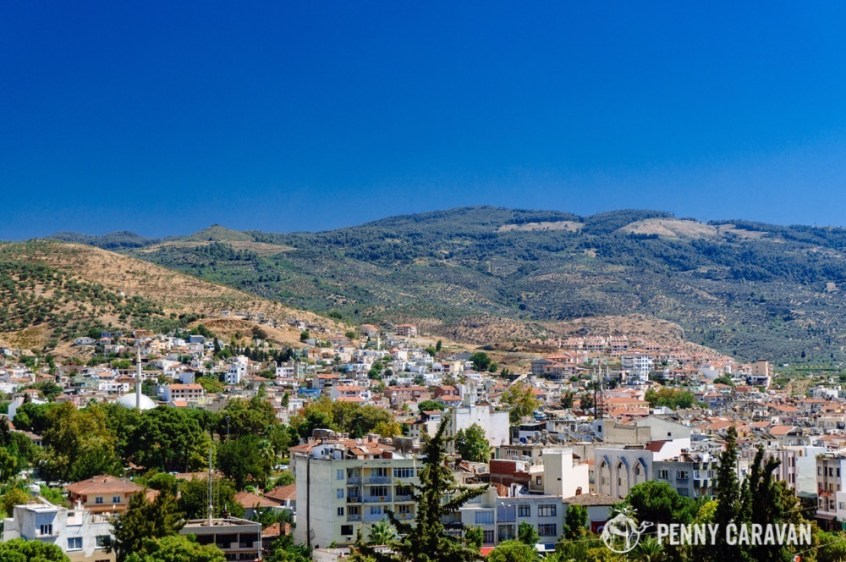 City of Selcuk from the hill.