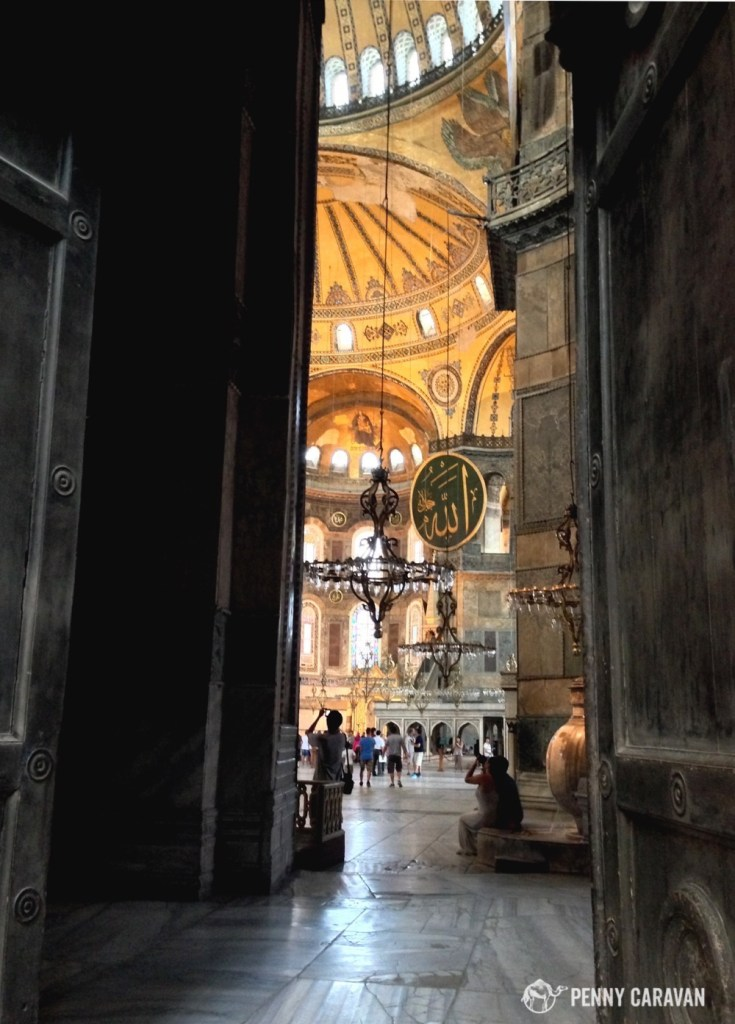 This was my first peek into the Hagia Sophia and yes, I gasped loudly!