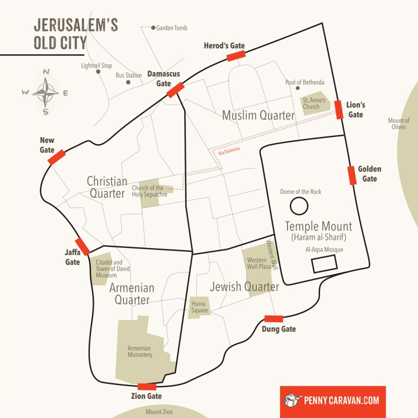 Jerusalem Map | Penny Caravan