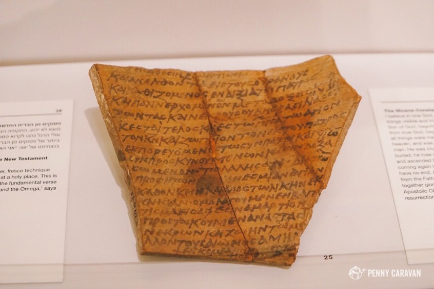 The Nicene Creed is written on this piece of pottery which is thought to have been a pilgrim's souvenir from the Holy Land.