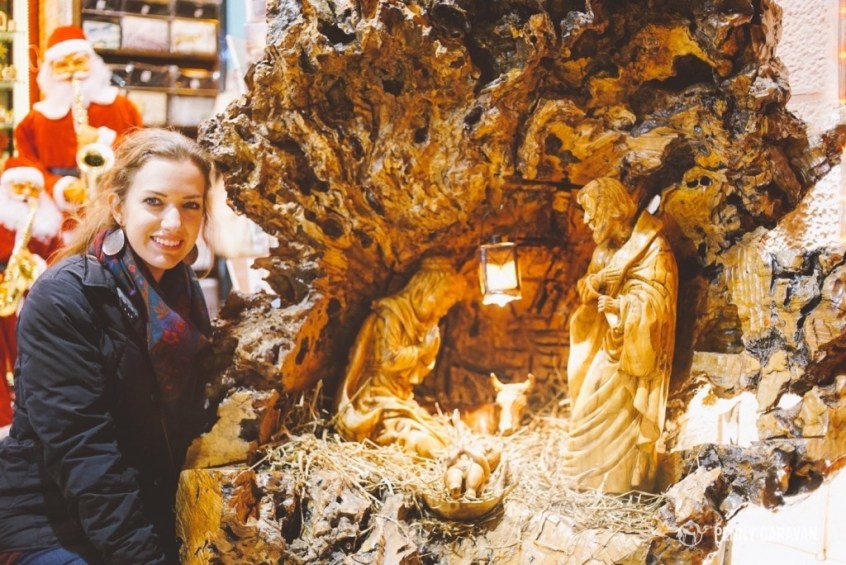 Olive wood nativities are a great souvenir to bring home. This one was just a little too big for me!