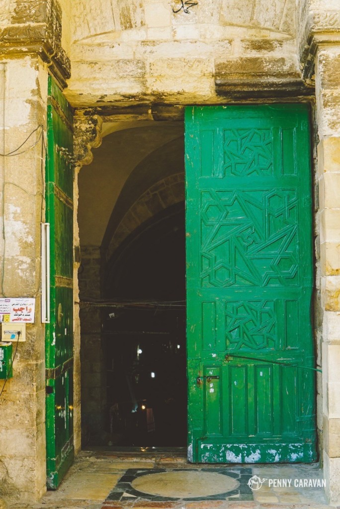 Door of the Cotton Merchants Gate.