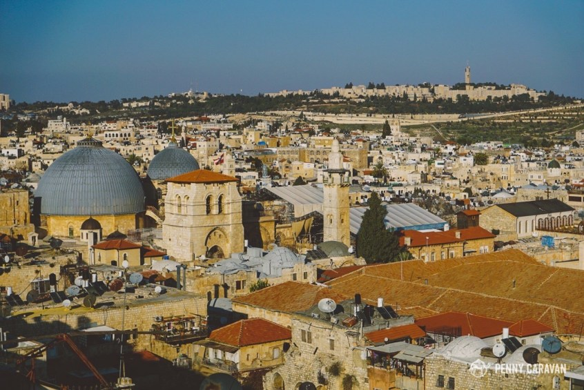 View looking toward the Church of the Holy Sepulchre.