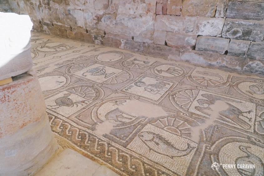 The Byzantine Church mosaics.