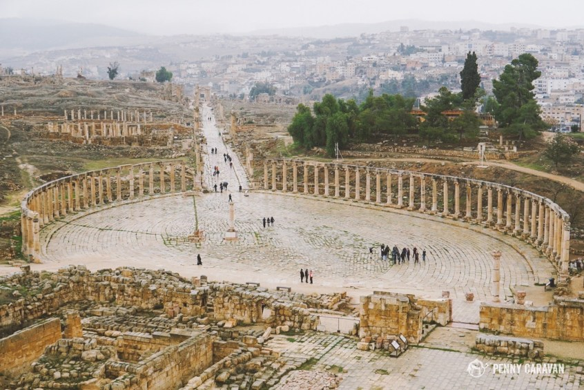 The Roman city of Jerash.