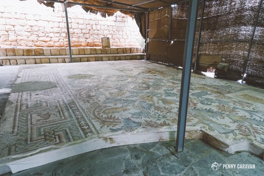 Mosaics at Mt Nebo.