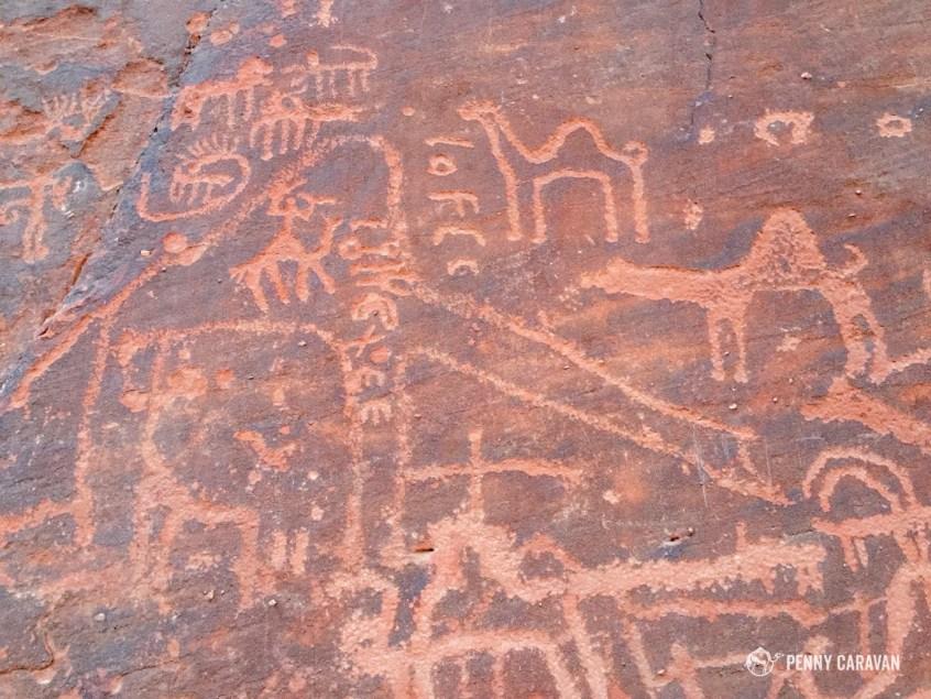 Nabataean petroglyphs.