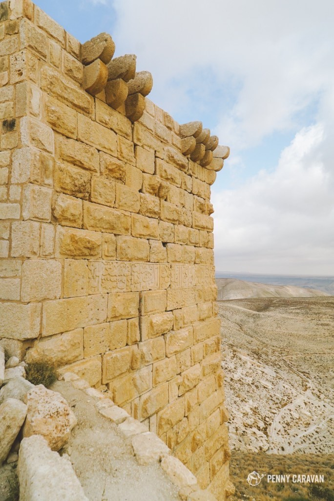 Some inscriptions are visible on the exterior, possibly from the time of Saladin.