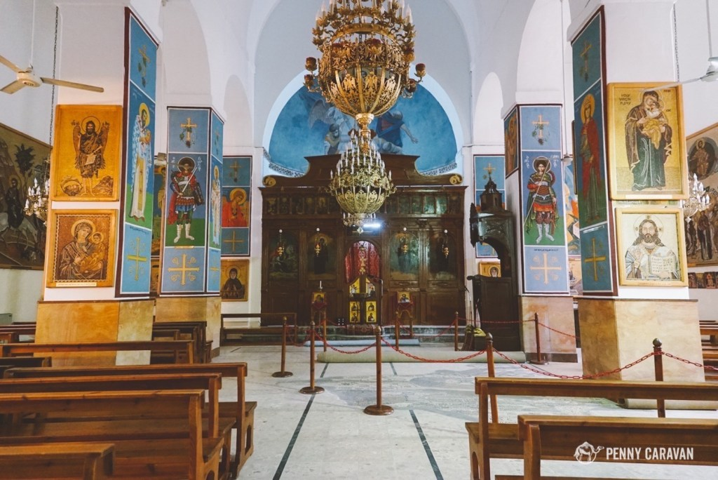 The church where the Madaba map is located.