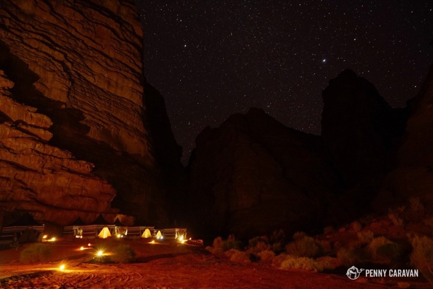 The camp is simply gorgeous at night.