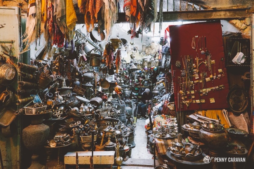 An awesome antique store in Jerusalem's Arab Quarter.