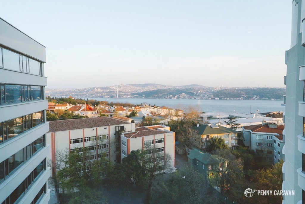 View from our room of the Bosphorus Bridge.