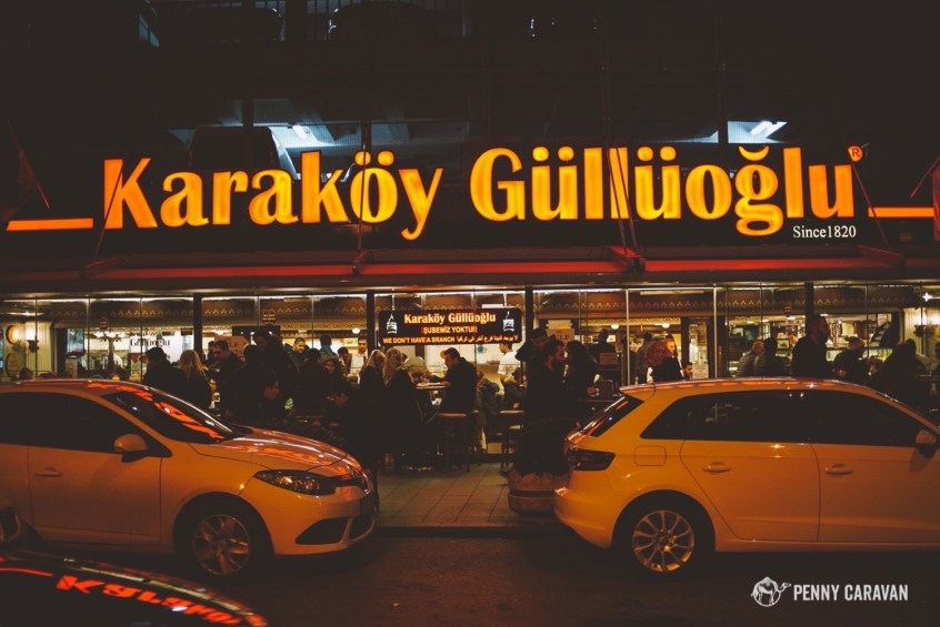 The best and oldest baklava eatery in Istanbul.