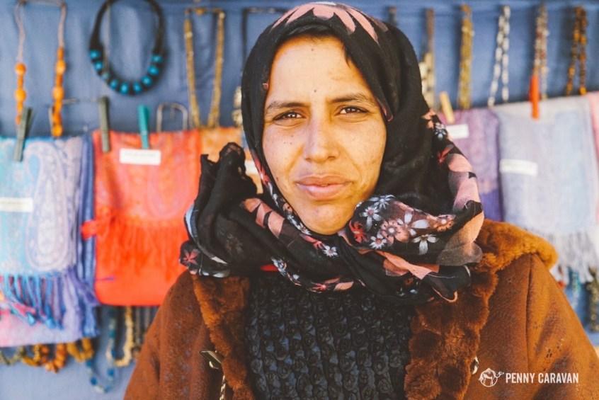 Nawal Christmas, one of the vendors at Petra.