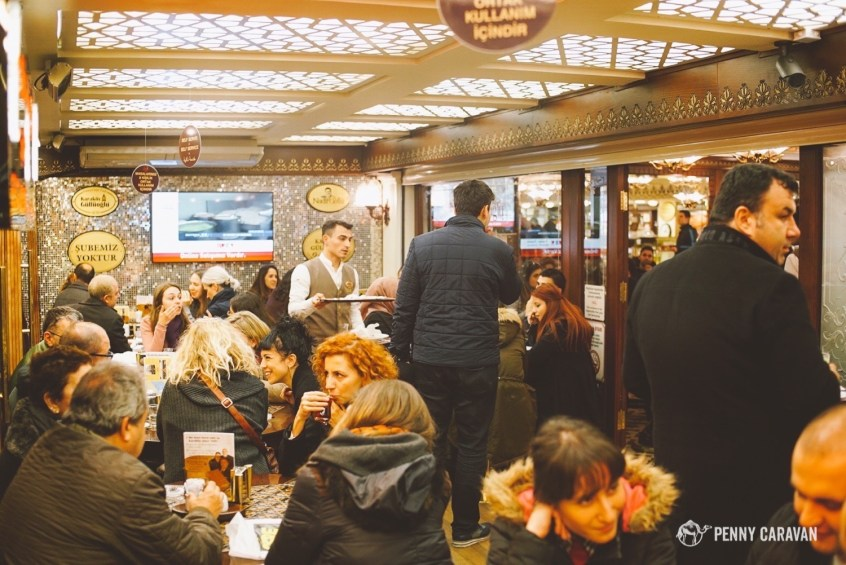 If the place is so crowded you can barely find a seat, that's a pretty good sign that it's gonna be delicious!