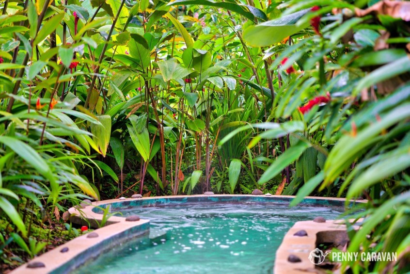 One of the four hot tubs.