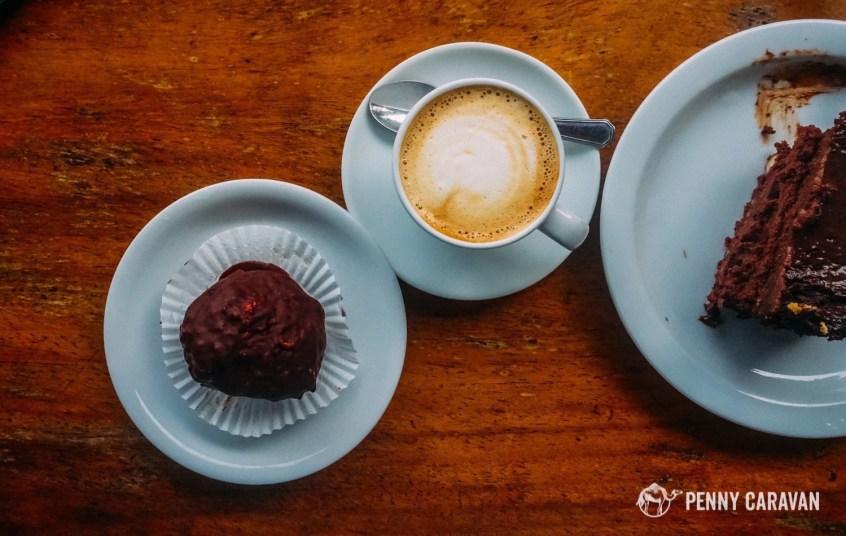 Macchiatos and desserts at Emilio's Cafe.