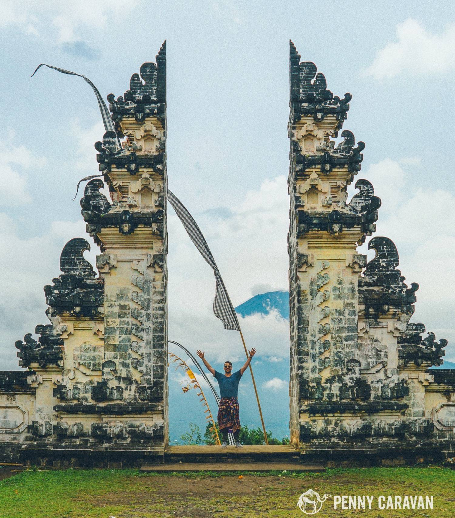 Standing In The Gates Of Heaven At Pura Lempuyang Penny Caravan