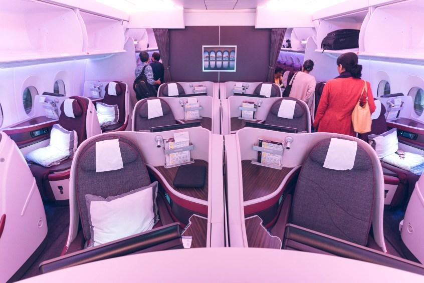 Qatar A350 BOS-DOH-14