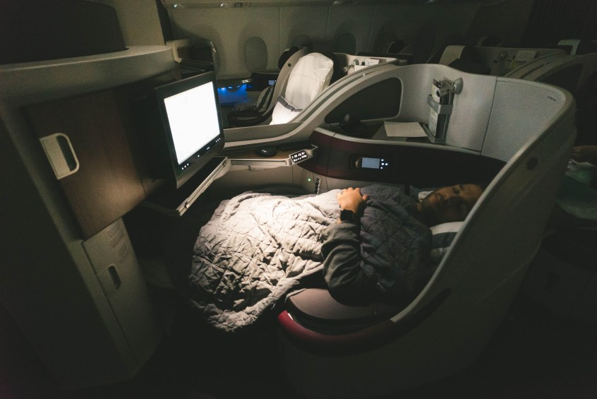 Qatar A350 BOS-DOH-54