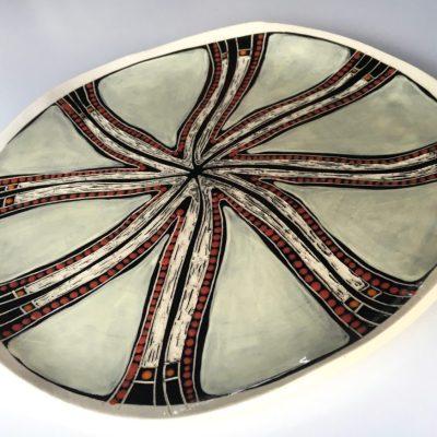 #526 Spirit Dreaming ceramic Plate