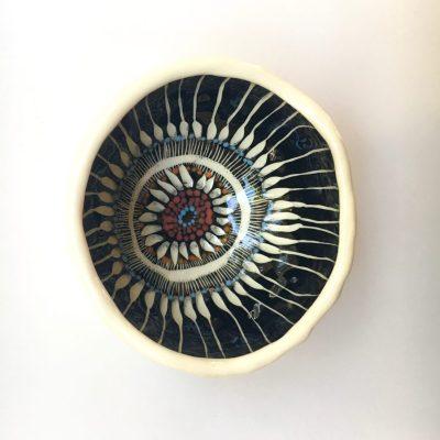 1037 Anemone Flower ceramic pot