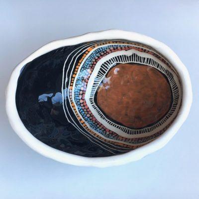 896 Meeting Place ceramic Pinch Pot
