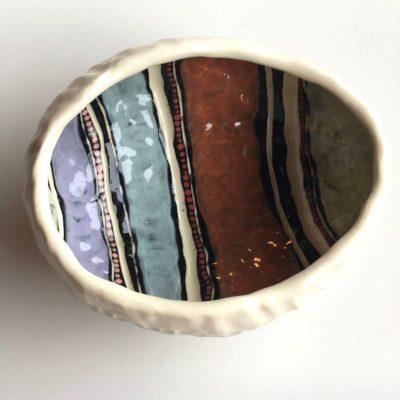 1104 Shifting Sands pinch pot