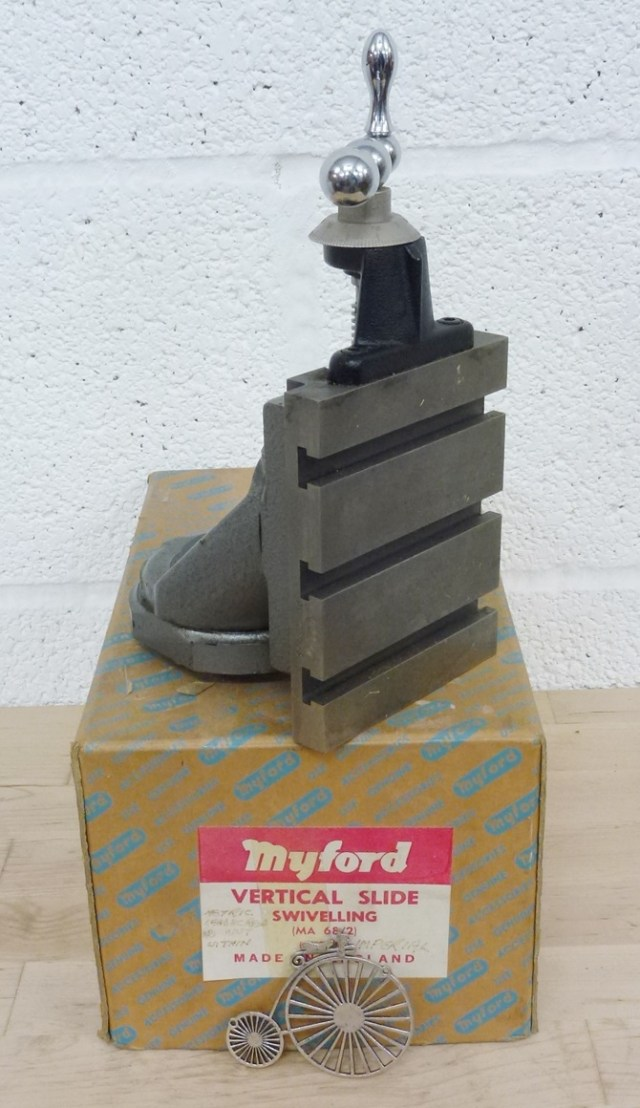 MYFORD SWIVELING VERTICAL SLIDE