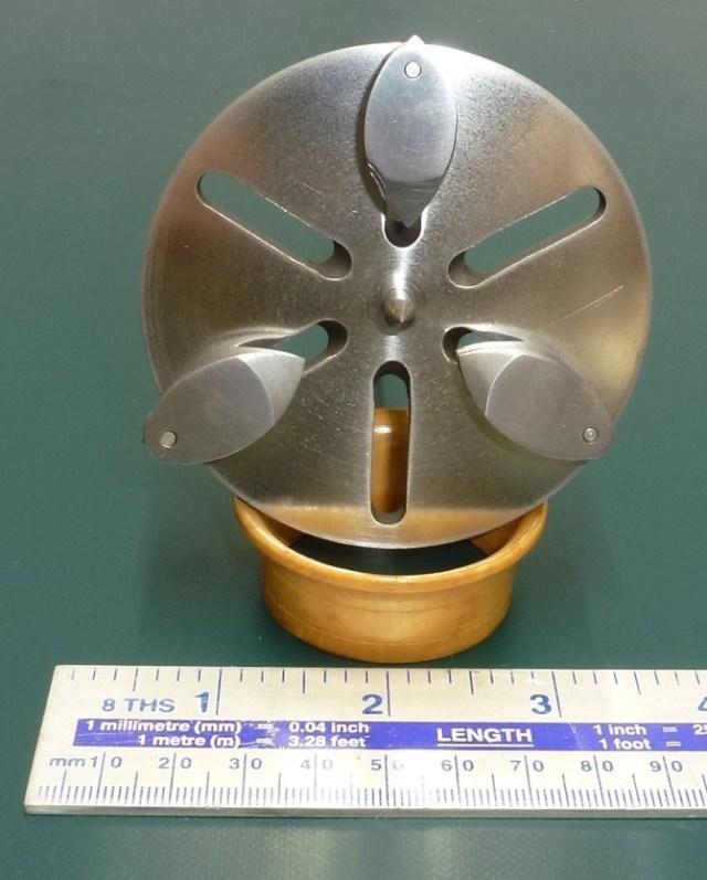 8mm MANDREL PLATE & CENTRE
