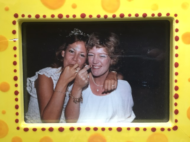 At our wedding with her sister Ginger 1982