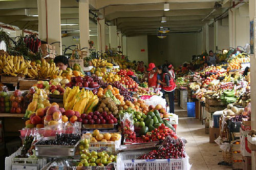Just 1 of 4 aisles of fruits/vegetables in just 1 of many markets