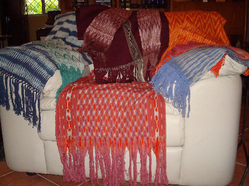 Beautiful finished scarfs and shawls