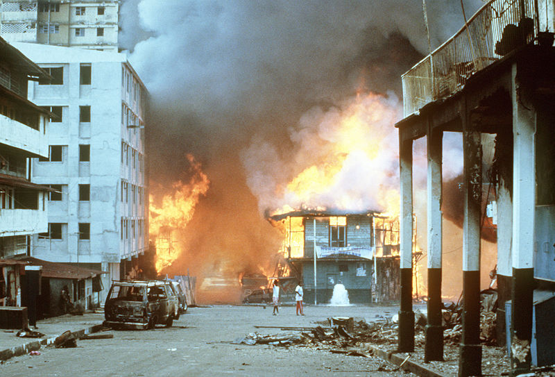 US invasion of Panama in 1989 under President George Bush, to capture Noreiga