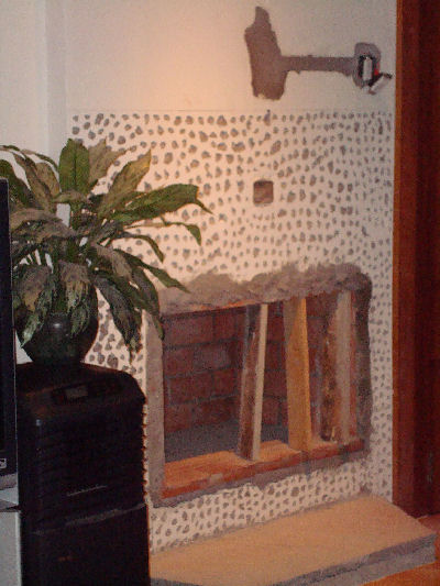 The living room really needed a fireplace